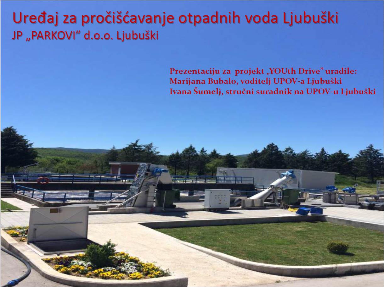"""Prezentacija uređaj za pročišćavanje otpadnih voda Ljubuški JP """"PARKOVI"""" d.o.o."""