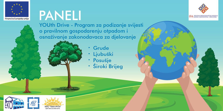 """Projekt """"Youth Drive"""" – Održavanje seta panel diskusija vezano za zaštitu okoliša na području ŽZH"""
