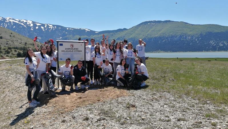 Masovno posjećena ekološka akcija organizovana u Zapadnohercegovačkoj županiji uz podršku Evropske unije